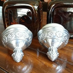 Vintage Kitchen - Artland vintage amber glass  pineapple canisters